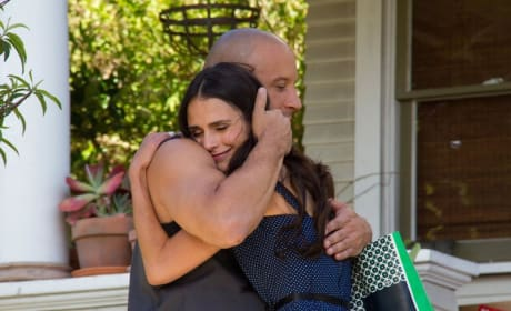 Vin Diesel Jordana Brewster Fast and Furious 7 Set