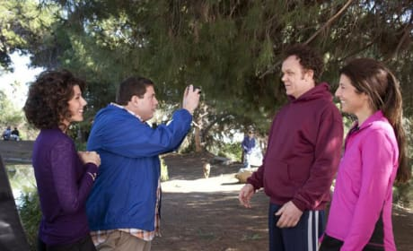 Jonah Hill Gets Between John C. Reilly and Marisa Tomei in Cyrus Pictures