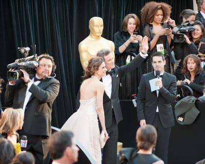 Christian Bale Arrives at Oscars