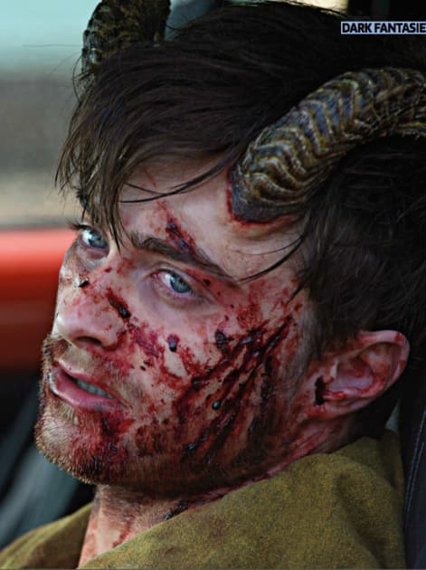 Daniel Radcliffe and His Horns Get Bloody
