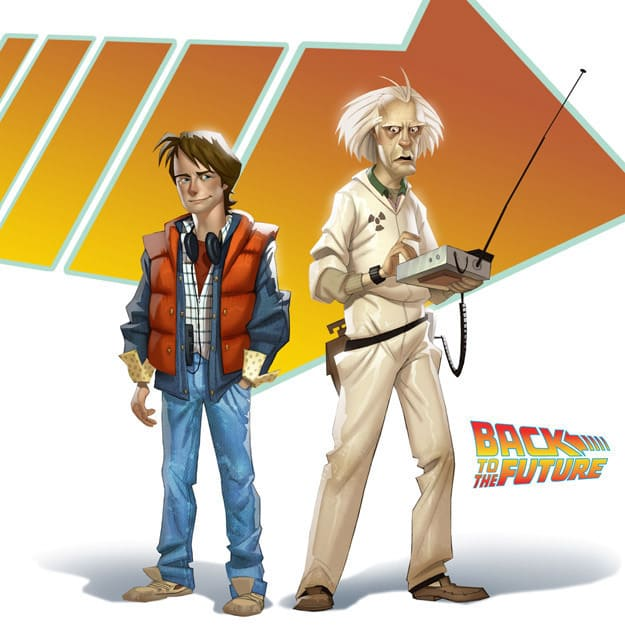 BTTF VIdeo Game Marty and Doc