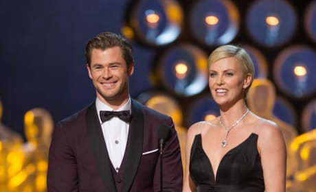 Chris Hemsworth Charlize Theron Oscars