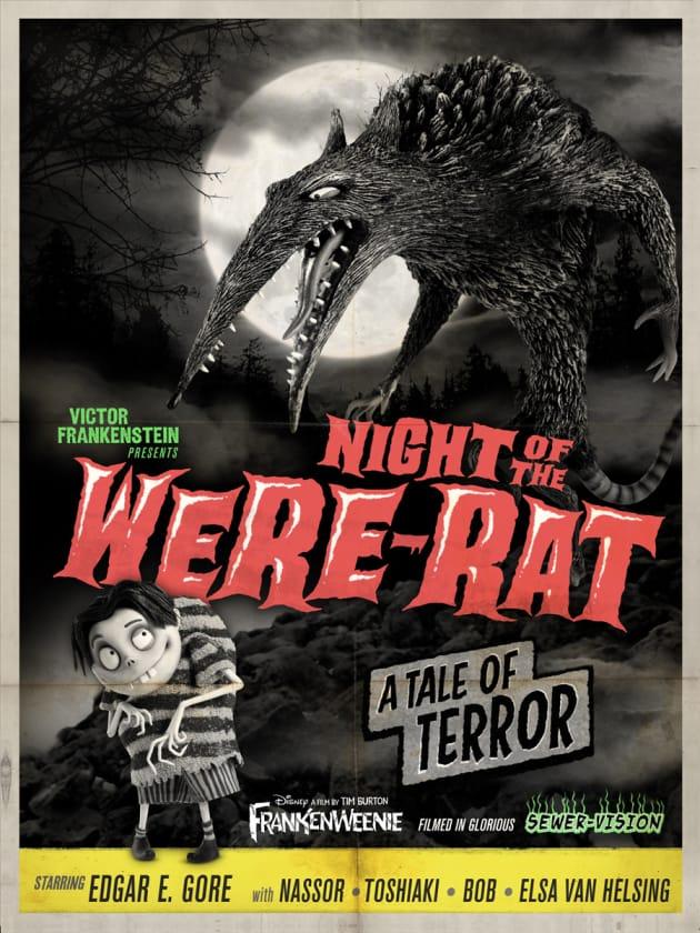 Frankenweenie Were-Rat Monster Poster