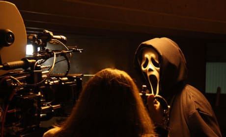 Ghostface on Set!