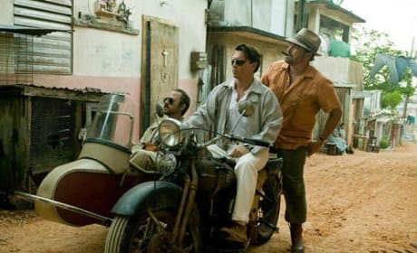 Giovanni Ribisi, Johnny Depp and Michael Rispoli in The Rum Diary