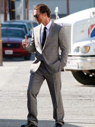 Matthew McConaughey Shoots Commercial