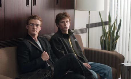 Justin Timberlake Jesse Eisenberg The Social Network