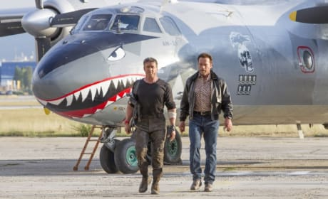 The Expendables 3 Photos: Sylvester Stallone & Arnold Schwarzenegger Take a Walk