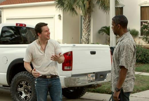 Denzel Washington Mark Wahlberg in 2 Guns