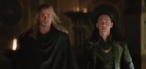 Chris Hemsworth Tom Hiddleston Thor The Dark World