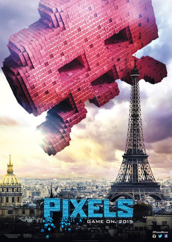 Pixels Space Invaders Poster
