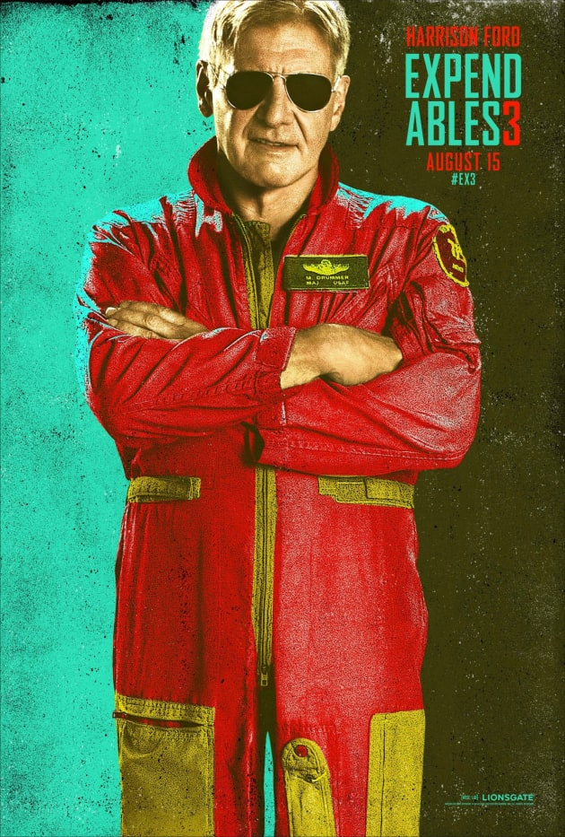The Expendables 3 Harrison Ford Comic Con Poster