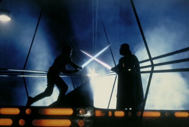 Empire Strikes Back Luke Fights Darth Vader