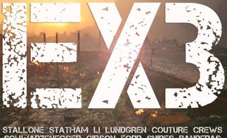 "The Expendables 3 Banner: ""EX3 is a Bomb!"""