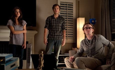 Ashley Greene Sebastian Stan and Tom Felton in The Apparition