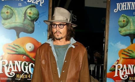 Johnny Depp at Rango Premiere