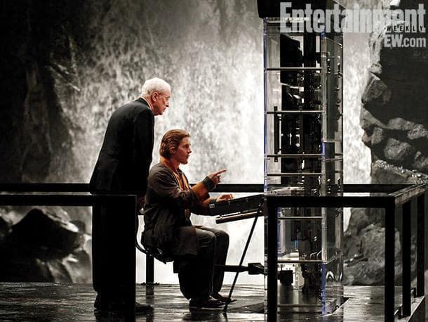 Alfred Pennyworth and Bruce Wayne The Dark Knight Rises