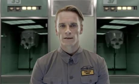 Michael Fassbender is David in Prometheus