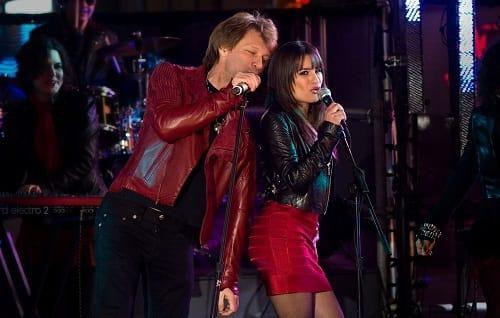 Jon Bon Jovi and Lea Michele in New Year's Eve