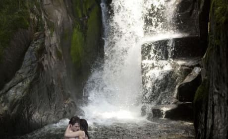 Kissing Under the Waterfall