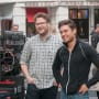 Neighbors Seth Rogen Zac Efron Set Photo