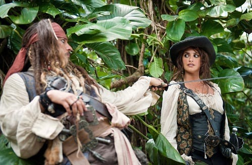Penelope Cruz and Johnny Depp in Pirates of the Caribbean: On Stranger Tides