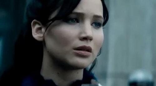 Katniss is Jennifer Lawrence in Catching Fire