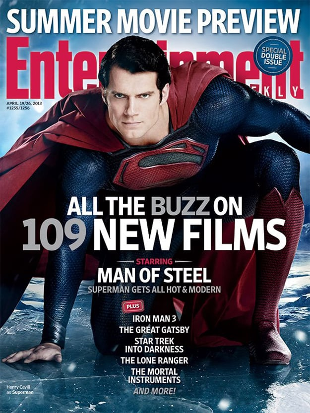 Man of Steel Entertainment Weekly Cover