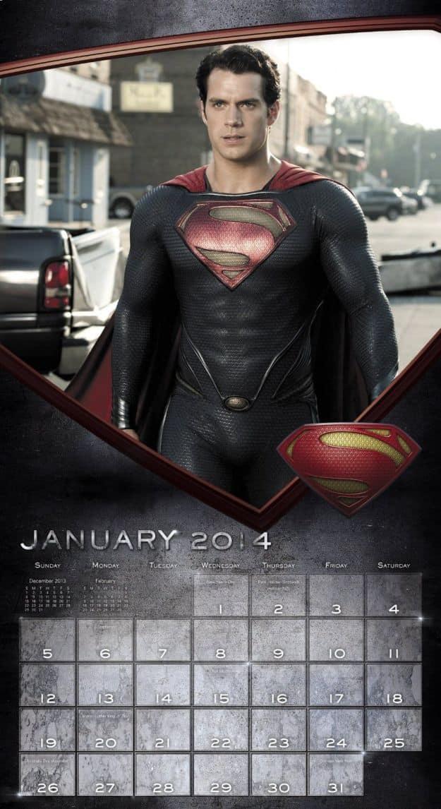 Man of Steel Calendar Page