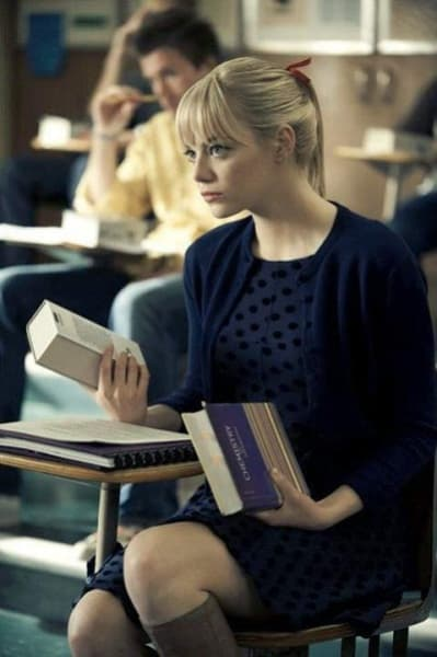 Emma Stone is Gwen Stacy in The Amazing Spider-Man
