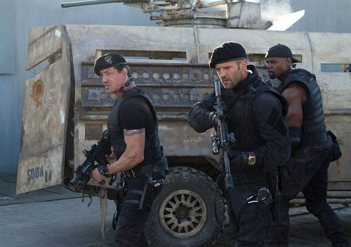 Sylvester Stallone and Jason Statham The Expendables 2