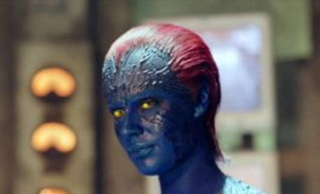 Mystique looking blue