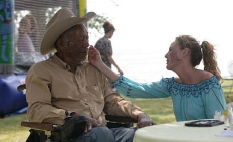 Morgan Freeman and Virginia Madsen in The Magic of Belle Isle