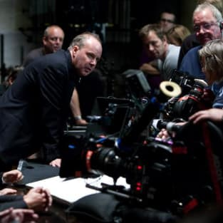 David Yates on Set