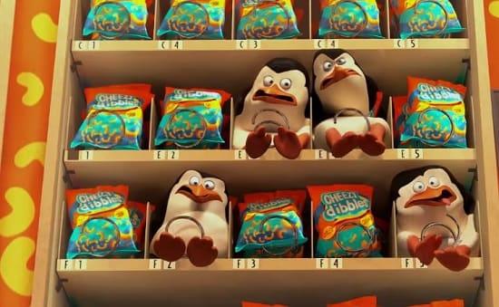 Penguins of Madagascar Vending Machine Photo