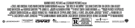 300: Rise of An Empire Credit Banner