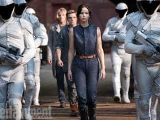 Jennifer Lawrence as Katniss in Catching Fire