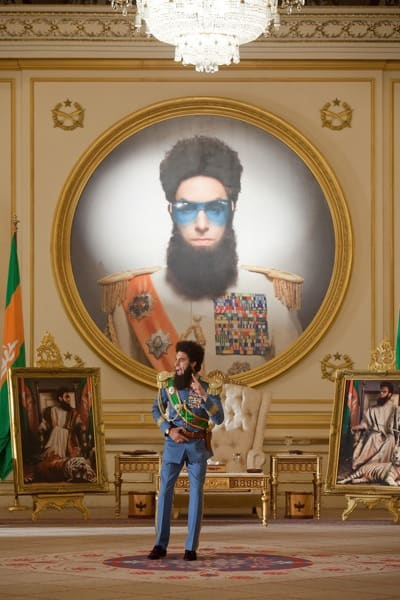 The Dictator Still: Aladeen with Portrait