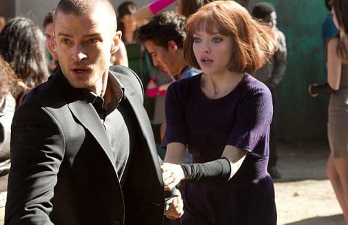 Amanda Seyfried and Justin Timberlake in In Time