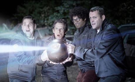 Ben Stiller, Vince Vaughn, Jonah Hill and Richard Ayoade in The Watch