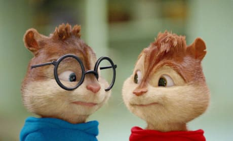 Alvin and Simon Share a Concerned Look.