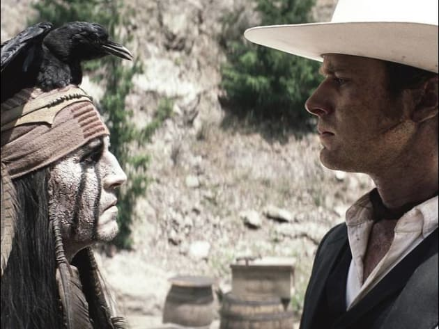 Johnny Depp and Armie Hammer The Lone Ranger