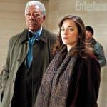 Lucius Fox and Miranda Tate The Dark Knight Rises