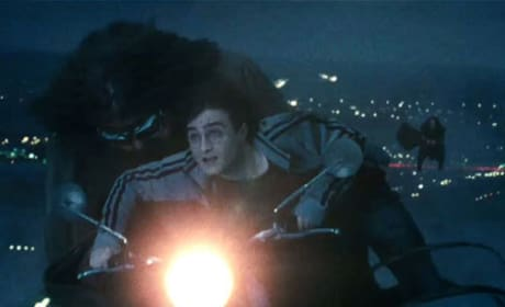 Harry and Hagrid Share a Bike