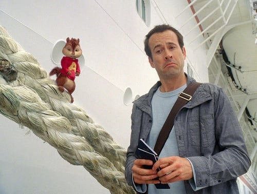 Jason Lee and Alvin in Chipwrecked