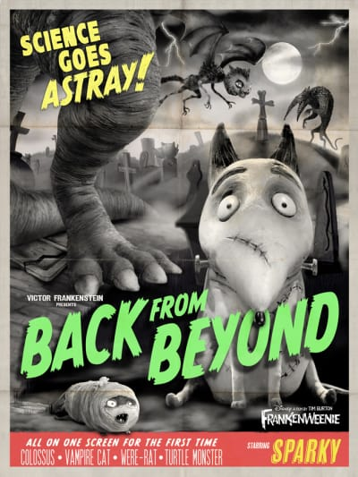 Frankenweenie Sparky Monster Poster