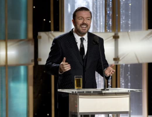 Ricky Gervais Hosts The Golden Globes