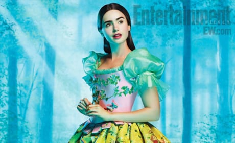 Lily Collins as Snow White: First Look!