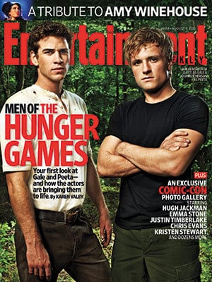Gale and Peeta in The Hunger Games