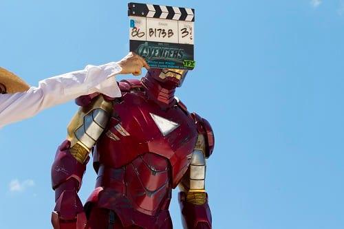 Robert Downey Jr. Filming The Avengers